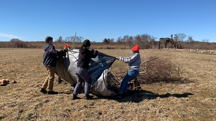 DNRT's and Mass Audubon's TerraCorps members, staff, and volunteers hard at work.