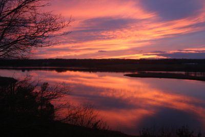 March - Robert Glickman - Sunset Looking over Slocum's River Reserve